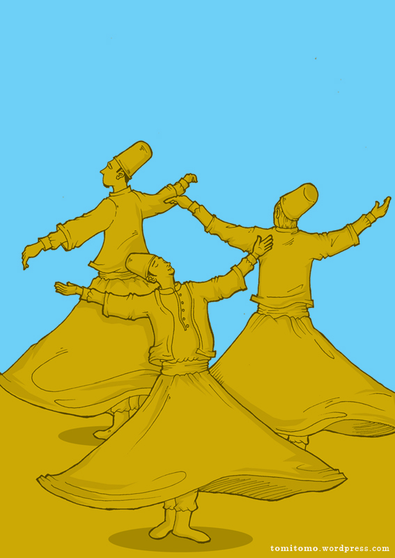 Dervish Dance Drawing The Whirling Dervish Trio